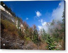 Jiuzhaigou Mountain Pinnacle Landscape China Acrylic Print by Fototrav Print
