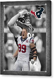Jj Watt Texans Acrylic Print by Joe Hamilton