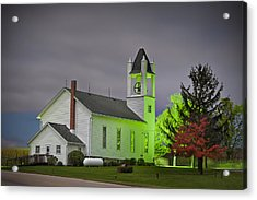 Jo Daviess County Church Acrylic Print by Tom Phelan