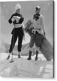 Joan Clement And Lee Sherman In The Snow Acrylic Print