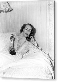 Joan Crawford - Academy Award Acrylic Print