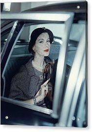 Joan Friedman In A Car Acrylic Print