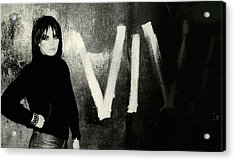 Joan Jett - Bad Reputation 1981 - Back Cover Acrylic Print by Epic Rights