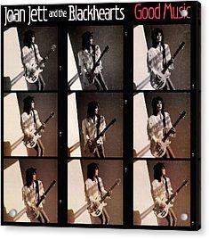 Joan Jett - Good Music 1986 Acrylic Print by Epic Rights