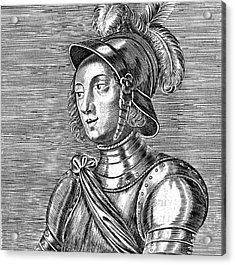 Joan Of Arc  French Heroine Acrylic Print by Mary Evans Picture Library