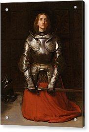 Joan Of Arc Acrylic Print by John Everett Millais