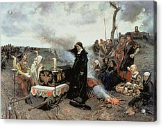 Joanna The Mad Accompanying The Coffin Of Philip The Handsome Acrylic Print