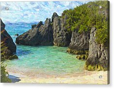 Acrylic Print featuring the photograph Jobson Cove Beach by Verena Matthew