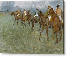 Jockeys In The Rain, 1886 Acrylic Print