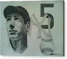 Joe Di Maggio Acrylic Print by Chris Lambert