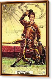 Joe Dimaggio Yankee Clipper Acrylic Print