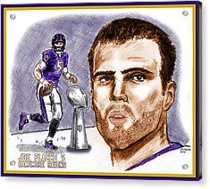 Joe Flacco Acrylic Print by Chris  DelVecchio