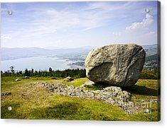 Joe Fox Fine Art - The Cloughmore Stone Rostrevor County Down Northern Ireland Acrylic Print