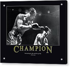 Joe Louis Champion  Acrylic Print by Retro Images Archive