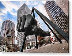 Joe Louis Fist - In Your Face - Version 2 Acrylic Print by Gordon Dean II