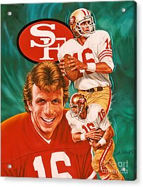 Joe Montana Acrylic Print by Dick Bobnick