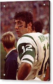 Joe Namath  Acrylic Print by Retro Images Archive