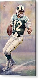 Joe Namath Acrylic Print by Gregory Perillo