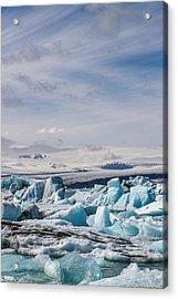 Joekulsarlon Glacial Lagoon Acrylic Print by For Ninety One Days