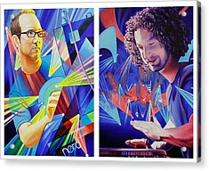Acrylic Print featuring the painting Joel And Andy by Joshua Morton