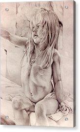 Joey Acrylic Print by Julie Orsini Shakher