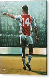 Johan Cruijff Nr 14 Painting Acrylic Print