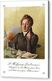 Johann Wolfgang Dobereiner, German Acrylic Print