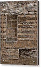John 14 3 Acrylic Print by Michelle Greene Wheeler