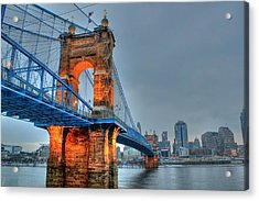 John A Roebling Suspension Bridge Cincinnati Ohio Acrylic Print