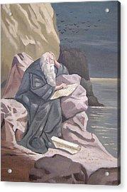 John At Patmos Acrylic Print by Tanya Provines