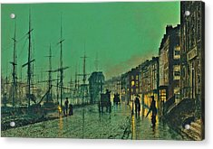 John Atkinson Grimshaw Shipping On The Clyde 1881 Acrylic Print