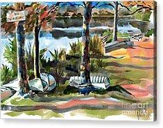 John Boats And Row Boats Acrylic Print by Kip DeVore