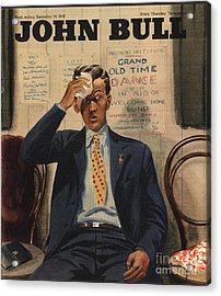 John Bull 1946 1940s Uk Tired Exhausted Acrylic Print by The Advertising Archives