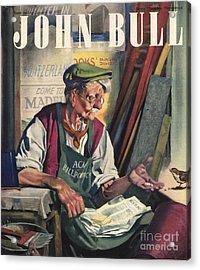 John Bull 1947 1940s Uk Birds Feeding Acrylic Print by The Advertising Archives