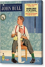 John Bull 1950s Uk Babies Fathers Acrylic Print by The Advertising Archives