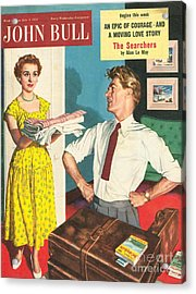 John Bull 1950s Uk Holidays Packing Acrylic Print by The Advertising Archives