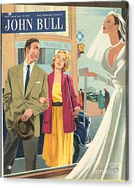John Bull 1950s Uk Marriages Shopping Acrylic Print by The Advertising Archives