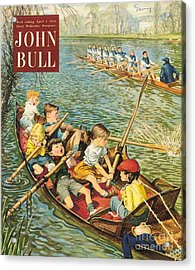 John Bull 1950s Uk Rowing Training Acrylic Print