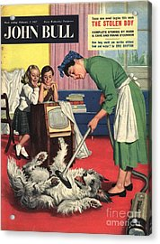 John Bull 1957 1950s Uk Dogs Cleaning Acrylic Print by The Advertising Archives