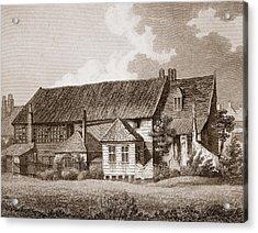 John Bunyans Meeting House, Early 19th Acrylic Print by English School