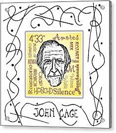 John Cage Acrylic Print by Paul Helm
