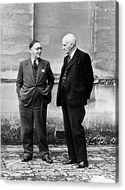 John Cockroft And Frederick Lindemann Acrylic Print by Emilio Segre Visual Archives/american Institute Of Physics