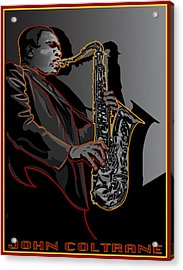 John Coltrane Jazz Saxophone Legend Acrylic Print by Larry Butterworth