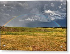 John Deer At The End Of The Rainbow Acrylic Print