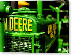 John Deere 1935 General Purpose Tractor Grill Detail Acrylic Print by Jon Woodhams