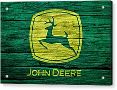 John Deere Barn Door Acrylic Print by Dan Sproul
