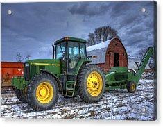 John Deere Acrylic Print by David Simons