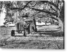 John Deere - Hay Bailing Acrylic Print