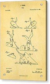 John Deere Plow Patent Art 1865 Acrylic Print