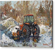 John Deere Taking A Brake Acrylic Print by Ylli Haruni